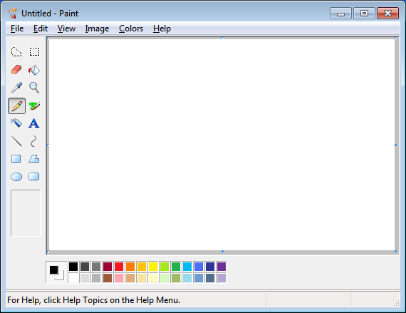 Classic Ms Paint In Windows 7 By Vishal Gupta