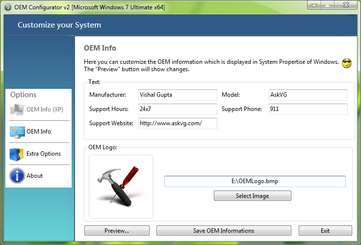 OEM Configurator 2.0 for Windows