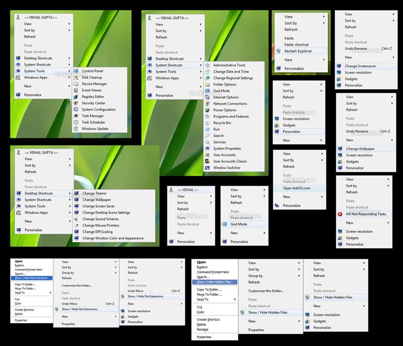 Win7 Desktop Context Menu Hack by Vishal-Gupta
