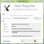 Hash Reporter for Windows