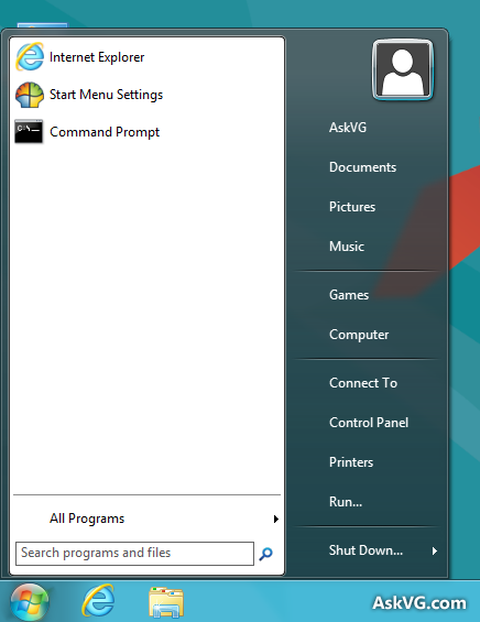 Windows 7 Skin for Classic Shell Start Menu by Vishal-Gupta