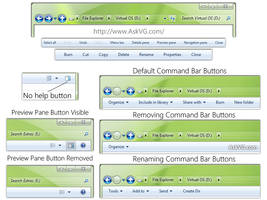 Tweak and Customize Windows 7 Explorer Command Bar by Vishal-Gupta