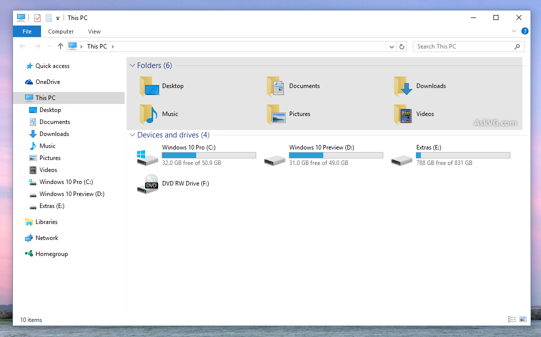 how to clean windows 10 folder