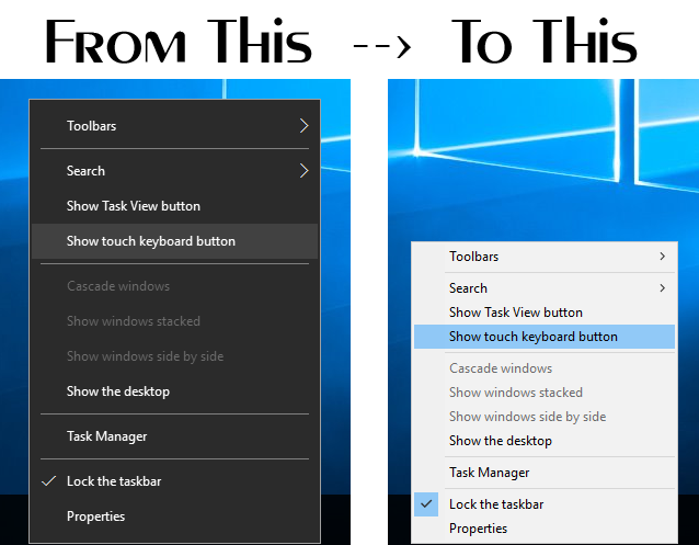 Windows 10 Taskbar Context Menu Tweaker by Vishal-Gupta on