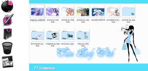 paquete de iconos azules