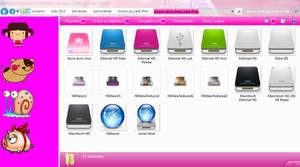 pack de iconos de discos duros