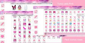 PAck de iconos rosa