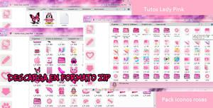 Pack de iconos rosa  .zip