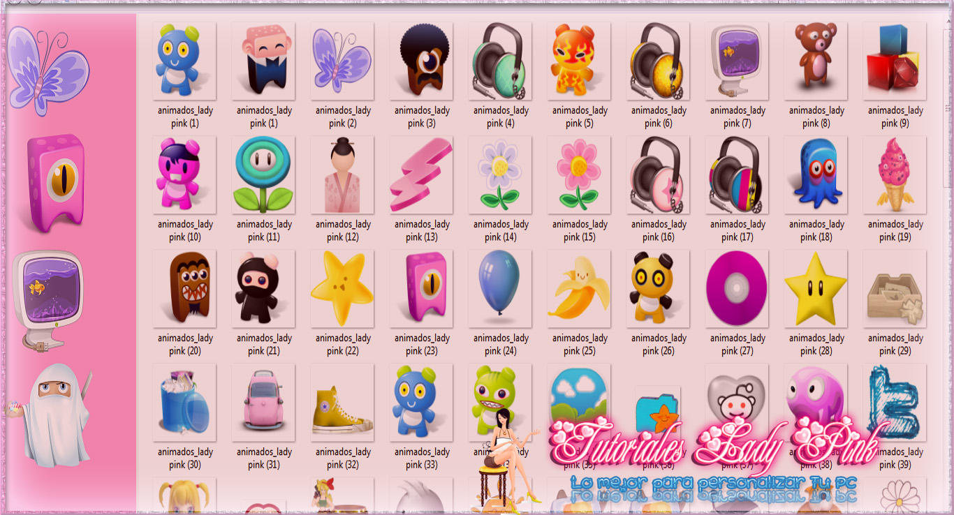 Pack de lindos  iconos by TutosLadyPink