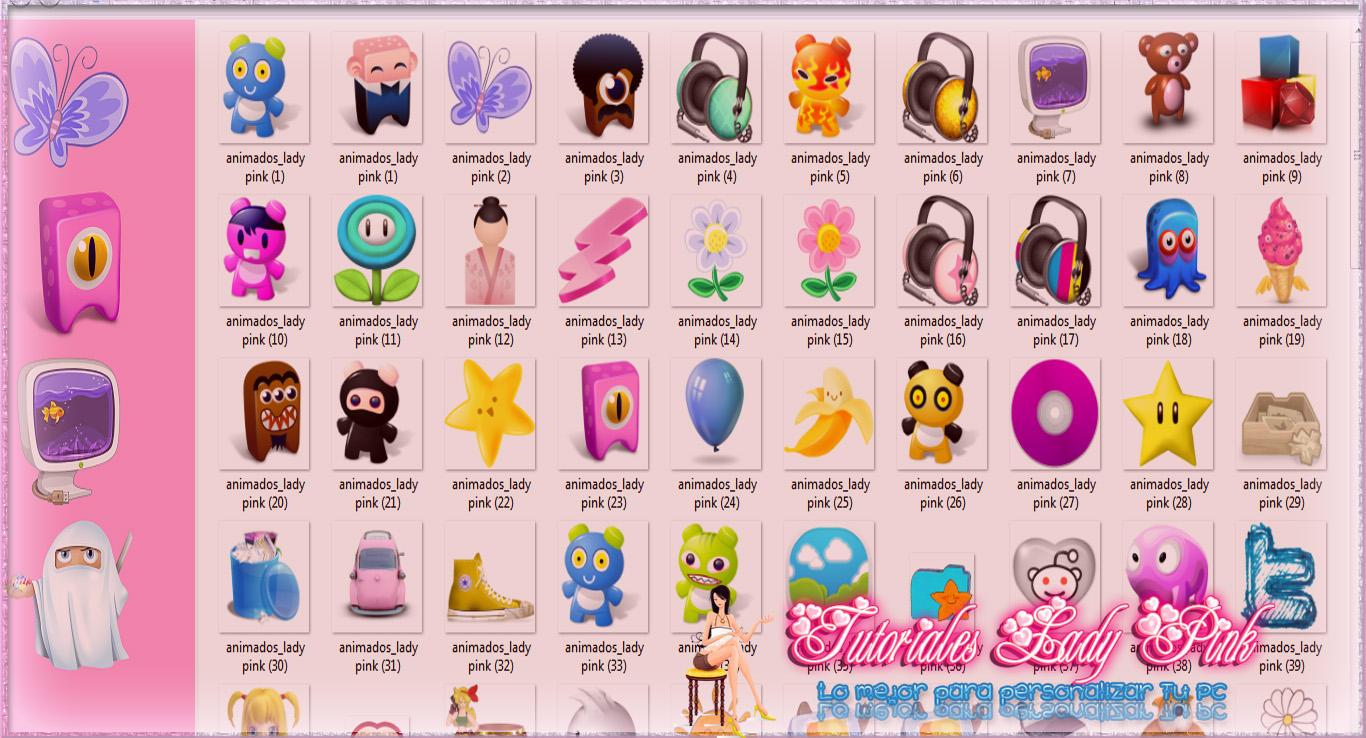Pack de lindos  iconos by TutosLadyPink