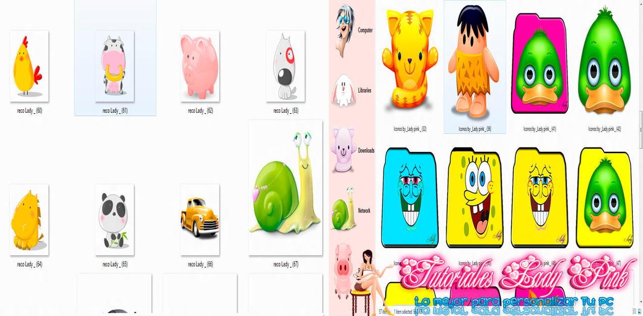 Iconos - Carpetas en formato ico y png by TutosLadyPink