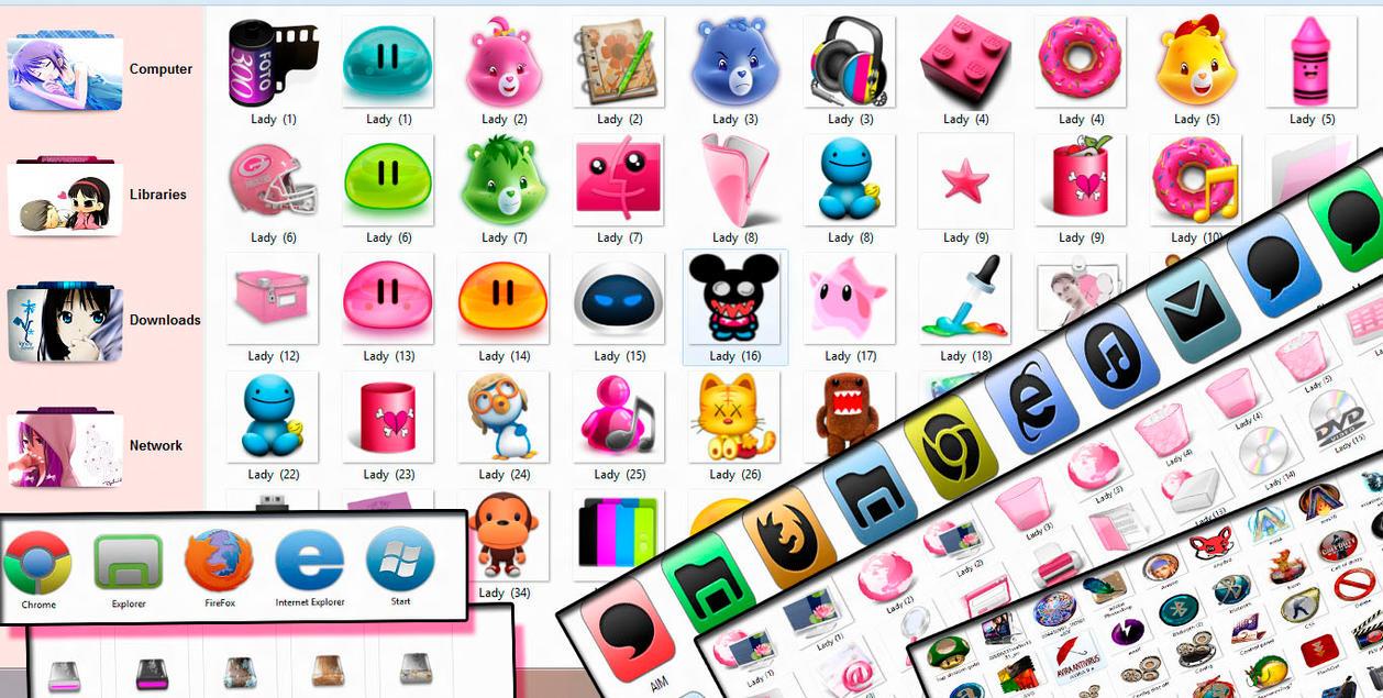 pack de iconos en png e ico .zip by TutosLadyPink