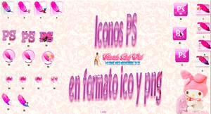 Iconos de photoshop en rosa