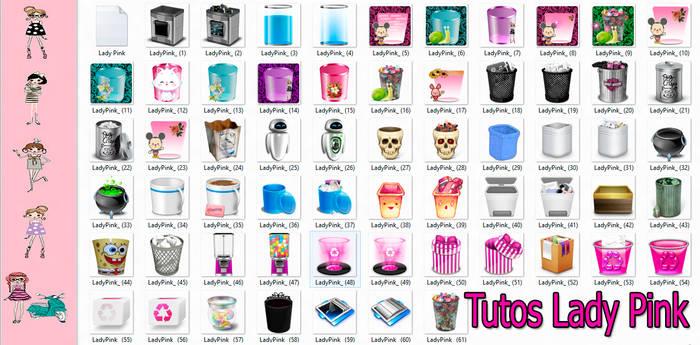 145638e072380 SNOBAwM 178 35 Pack de iconos de papeleras by TutosLadyPink