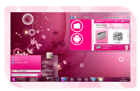 pink theme windows xp free