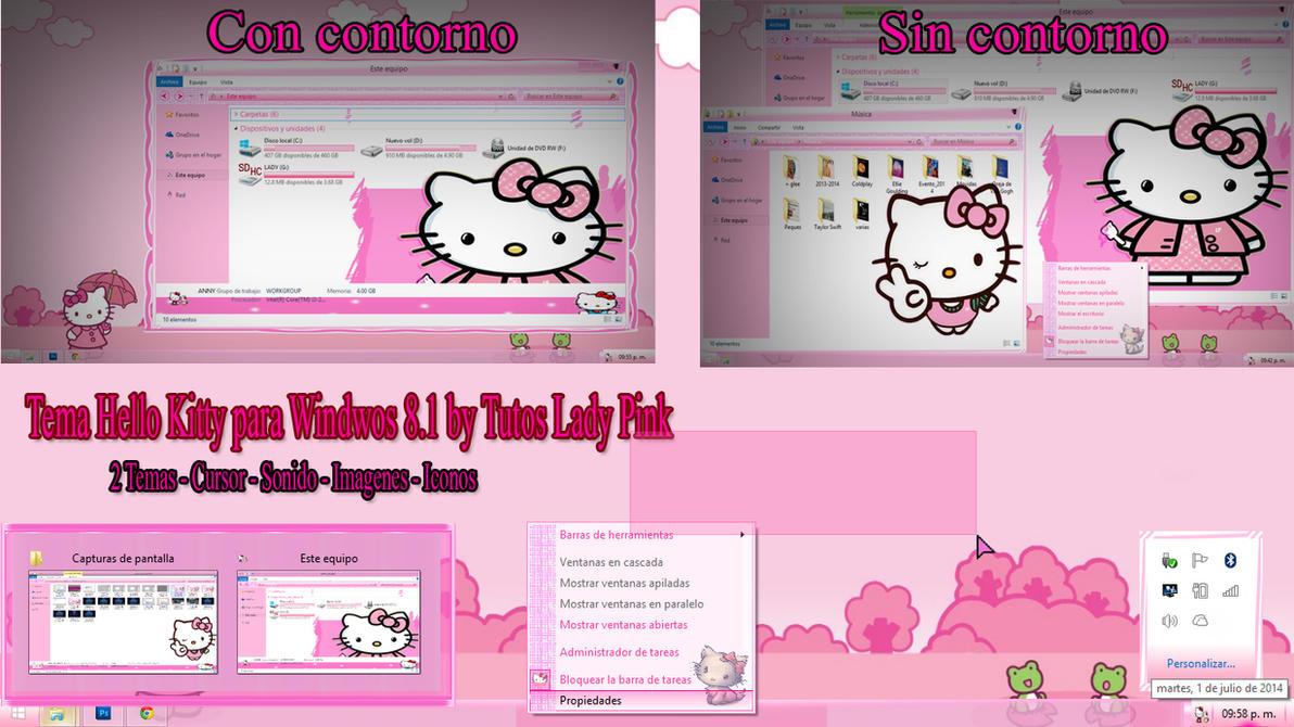 Tema Hello Kitty para Windwos 8.1 by TutosLadyPink