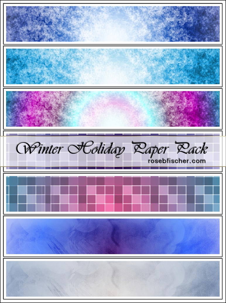RBF Winter Paper Pack Free by rosebfischer