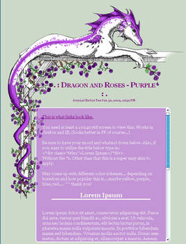 CSS Dragon and Roses - Purple