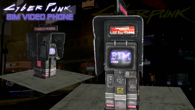 Cyber Punk - Video Phone (FBX OBJ XPS DOWNLOAD)