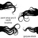 PSP8 HAIR brush pack 01 by gorjuss-stock