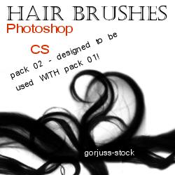 Photoshop HAIR brushes pack 02