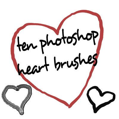 Photoshop CS HEART brushes by gorjuss-stock