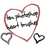 Photoshop CS HEART brushes