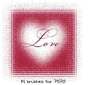 PSP8 Love Brushes by gorjuss-stock