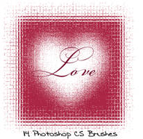 Photoshop CS LOVE brushes by gorjuss-stock