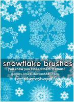 gorjuss snowflake brshs PS CS by gorjuss-stock