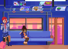 Train Ride by Sarahrsaenz