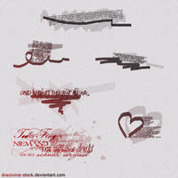 Scribble Brushes by Dracovina-Stock
