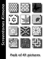 Screentones Kimono by bakenekogirl