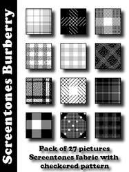 Screentones Burberry by bakenekogirl