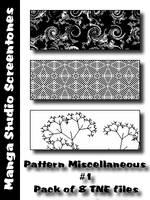 Patterns MangaStudio pack 1 by bakenekogirl