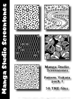 Patterns MangaStudio pack 2 by bakenekogirl