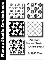 Patterns MangaStudio pack 3 by bakenekogirl
