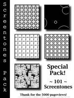 Special Pack 101 Screentones by bakenekogirl