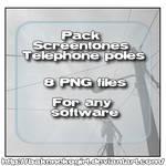 Screentones Telephone Poles