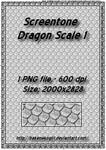 Screentone Dragon Scale - 1