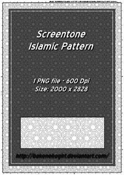Screentone  Islamic Pattern