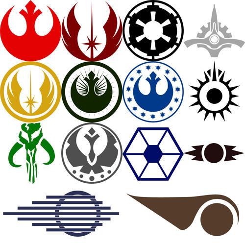 Star Wars Symbol Custom Shapes by Tensen01