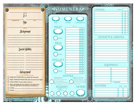 Numenera Sheet