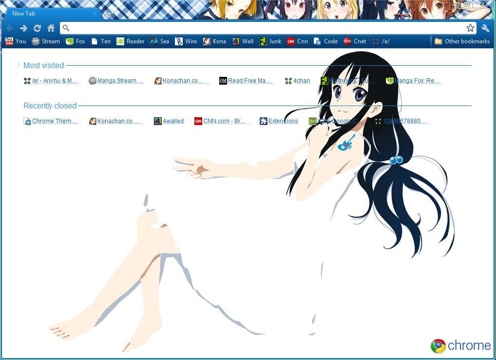 K-on Google Chrome theme by MangaServer