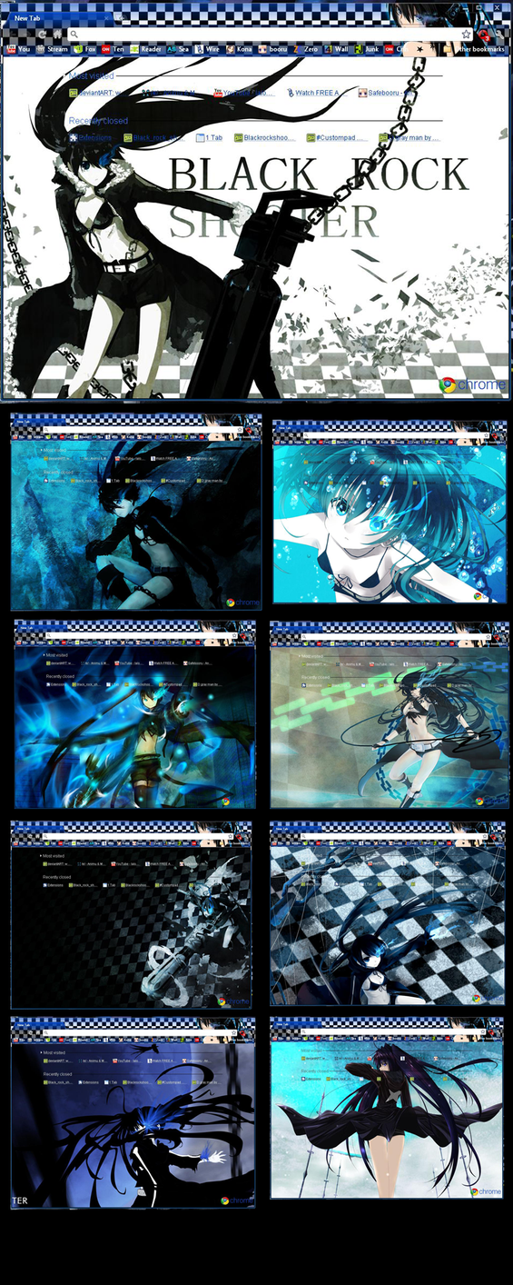 Google chrome themes yaoi - Black_rock_shooter Theme By Mangaserver