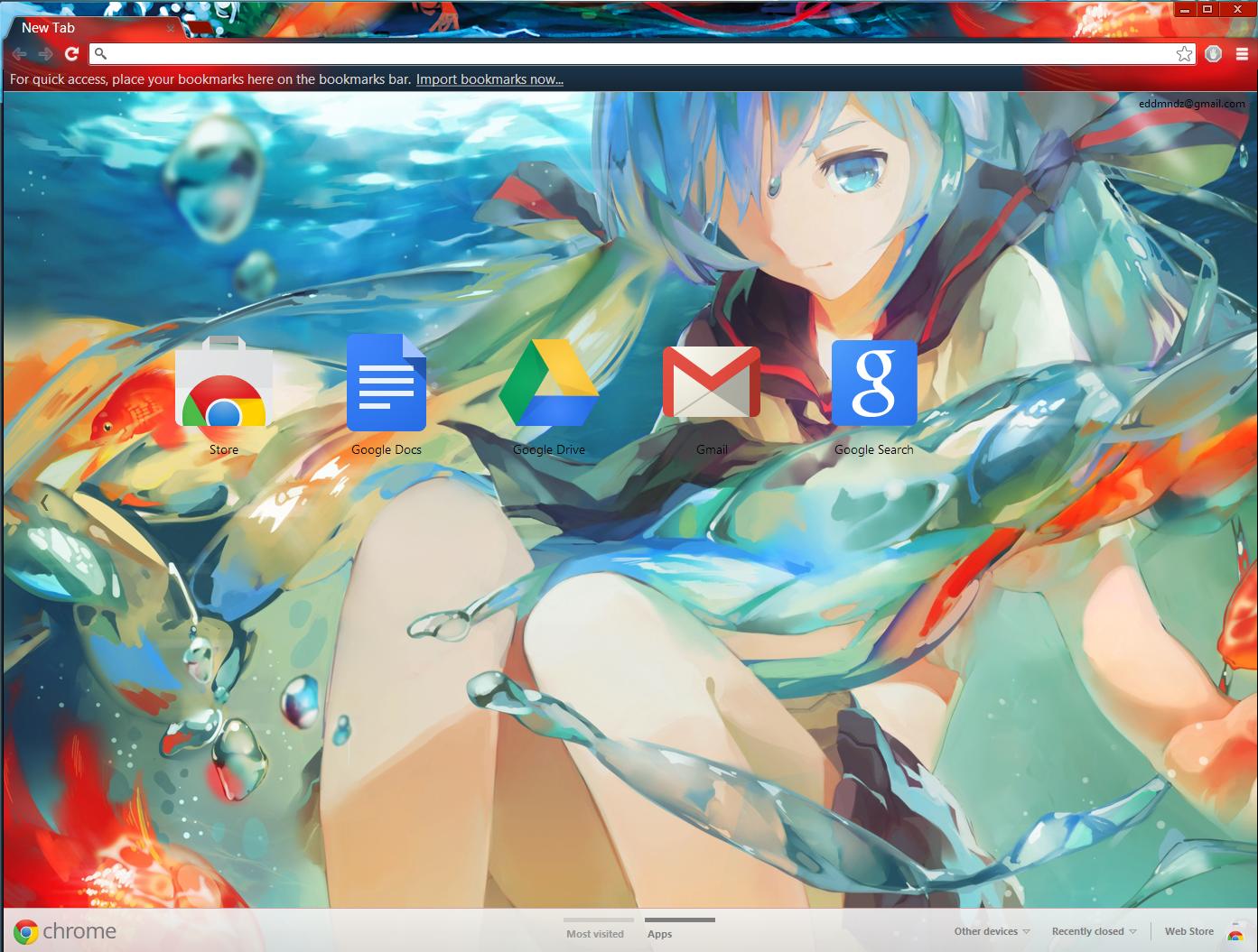 Google themes hatsune miku - Pigletiger 208 92 Hatsune Miku Goldfish By Mangaserver
