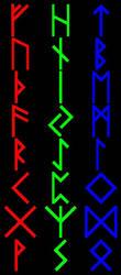 Elder Futhark Brushes for PSP7 by lbsilver