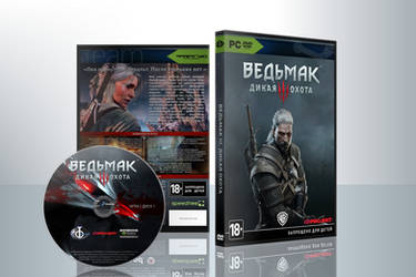 The Witcher 3: Wild Hunt Custom Russian DVD Cover