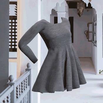Walking Grey Dress (GIF 2/3)