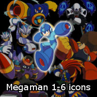 Megaman 1-6 Icons by Fanboy-Goodies